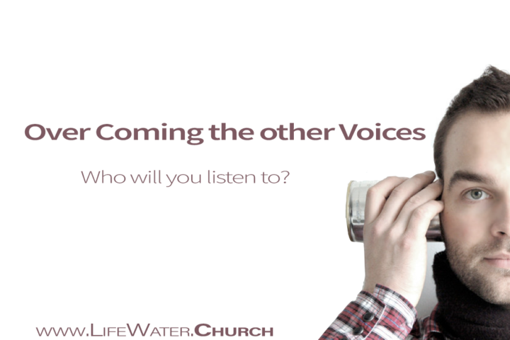 Who's Voice will you listen to?